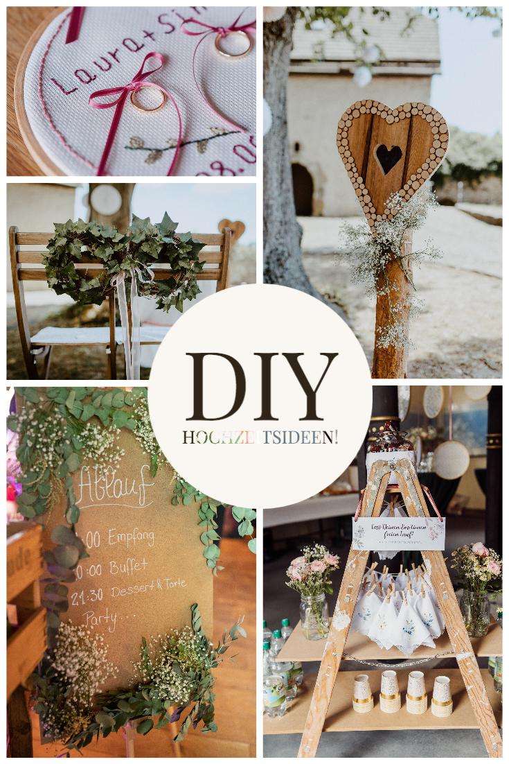DIY Hochzeitsdeko Ideen für Brautpaare