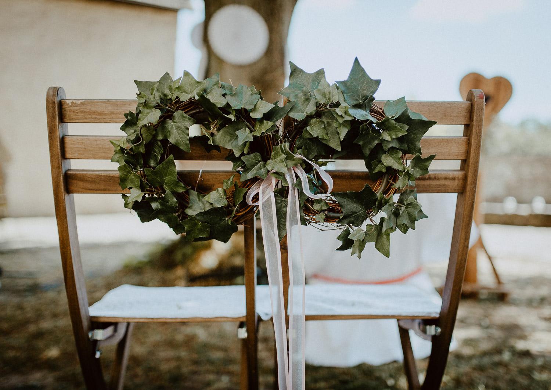 DIY Hochzeitskranz Hochzeitsstühle
