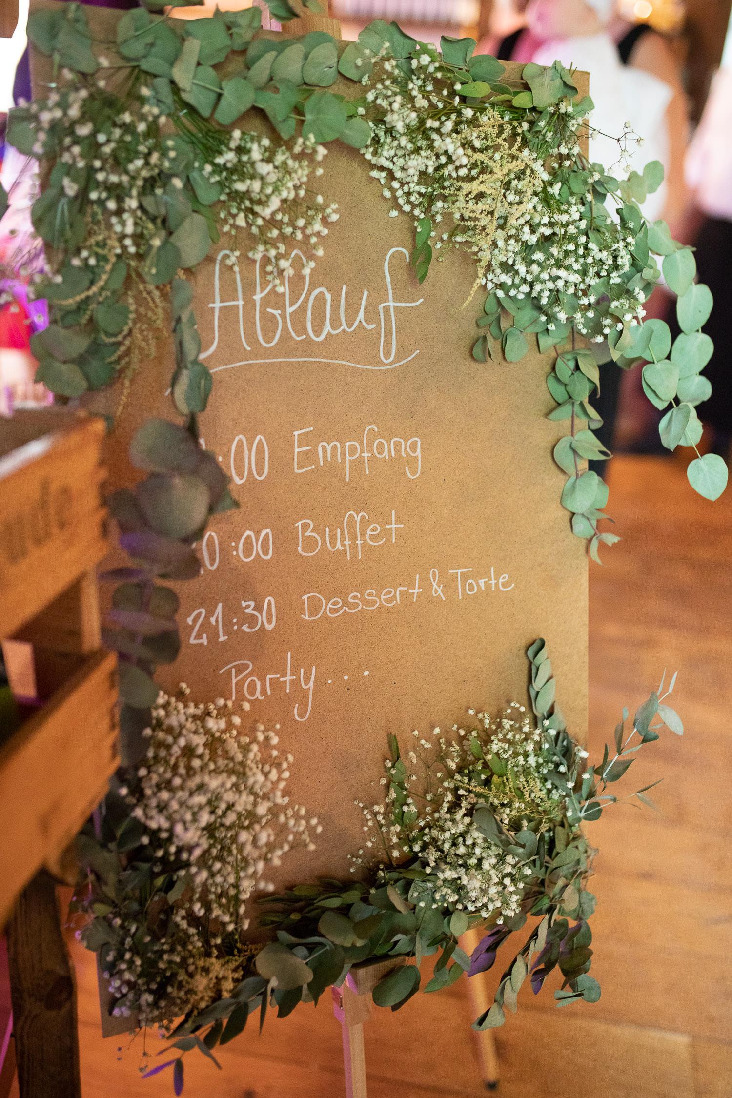 DIY Ablaufplan Hochzeit