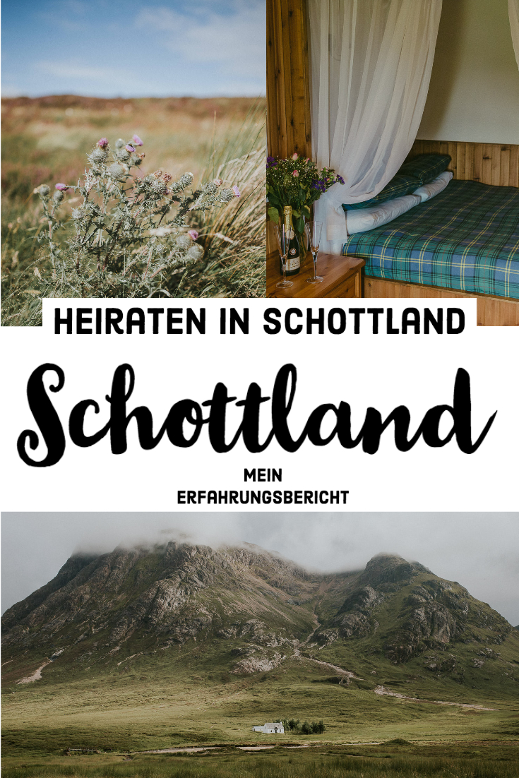 Heiraten in Schottland Pinterest Bild