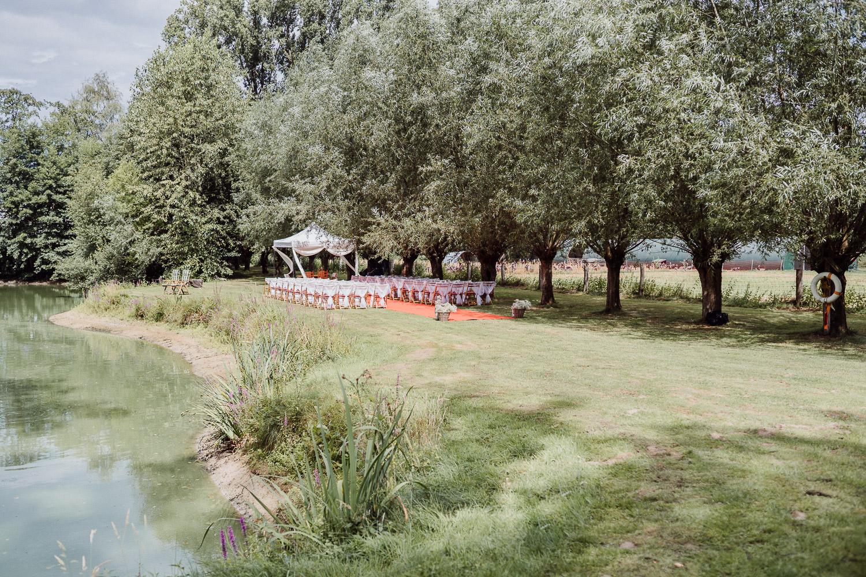 Hochzeitspavillion am See