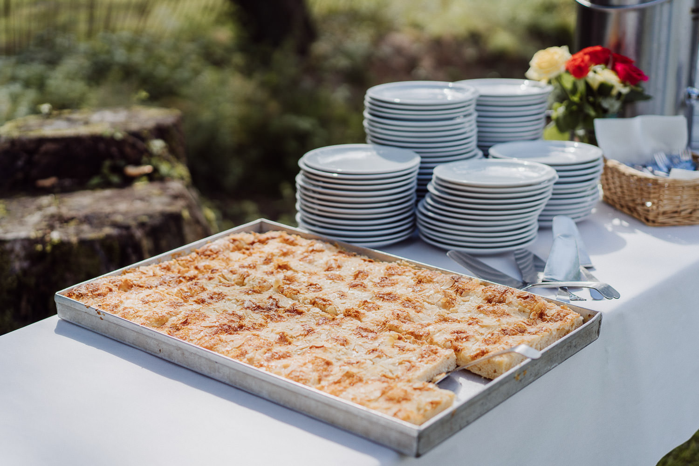 Blechkuchen als Hochzeitskuchen beim Meierhof Rassfeld