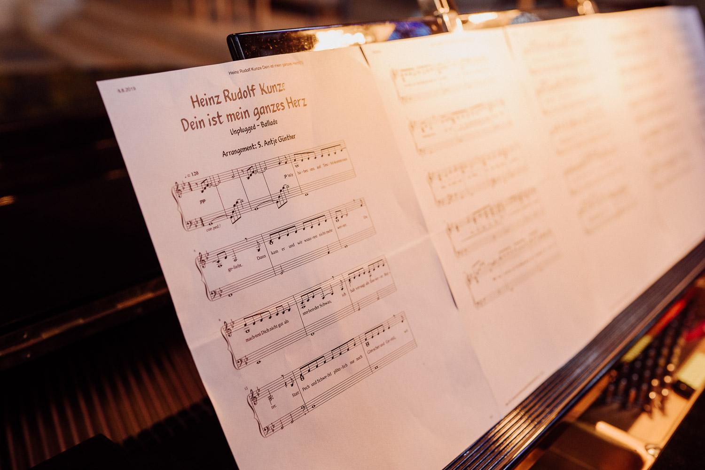 Foto vom Hochzeitslied Noten