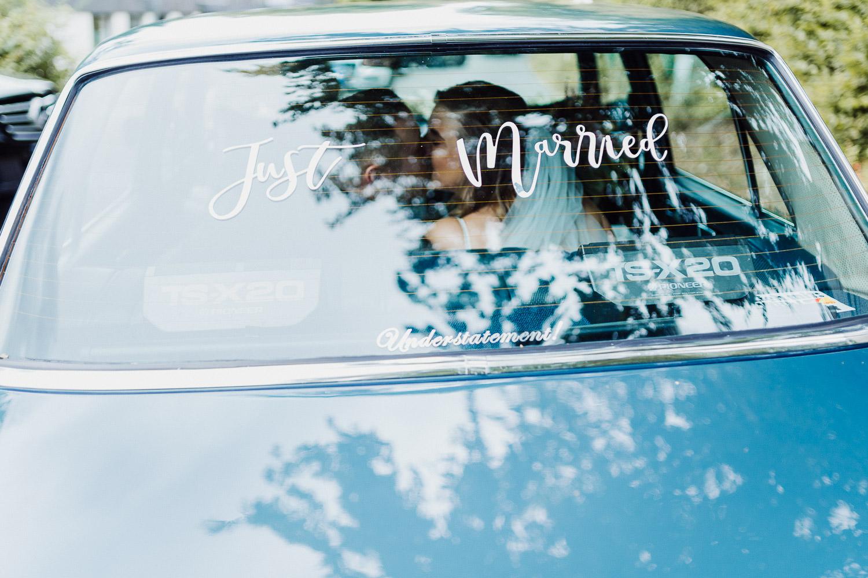Just Married Aufkleber für Hochzeitsauto