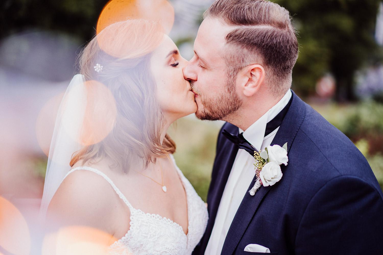 Hochzeitsfotos auf dem Johannisberg Bielefeld mit Lichterkette