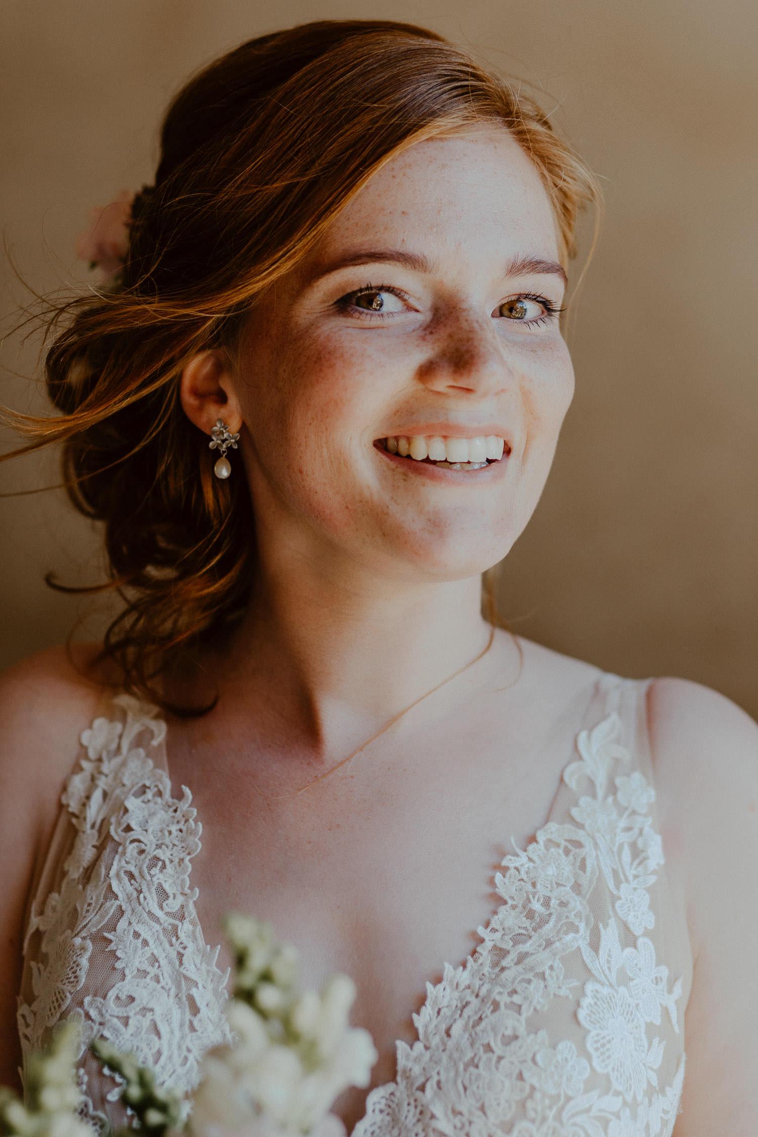 Porträt Braut mit roten Haaren
