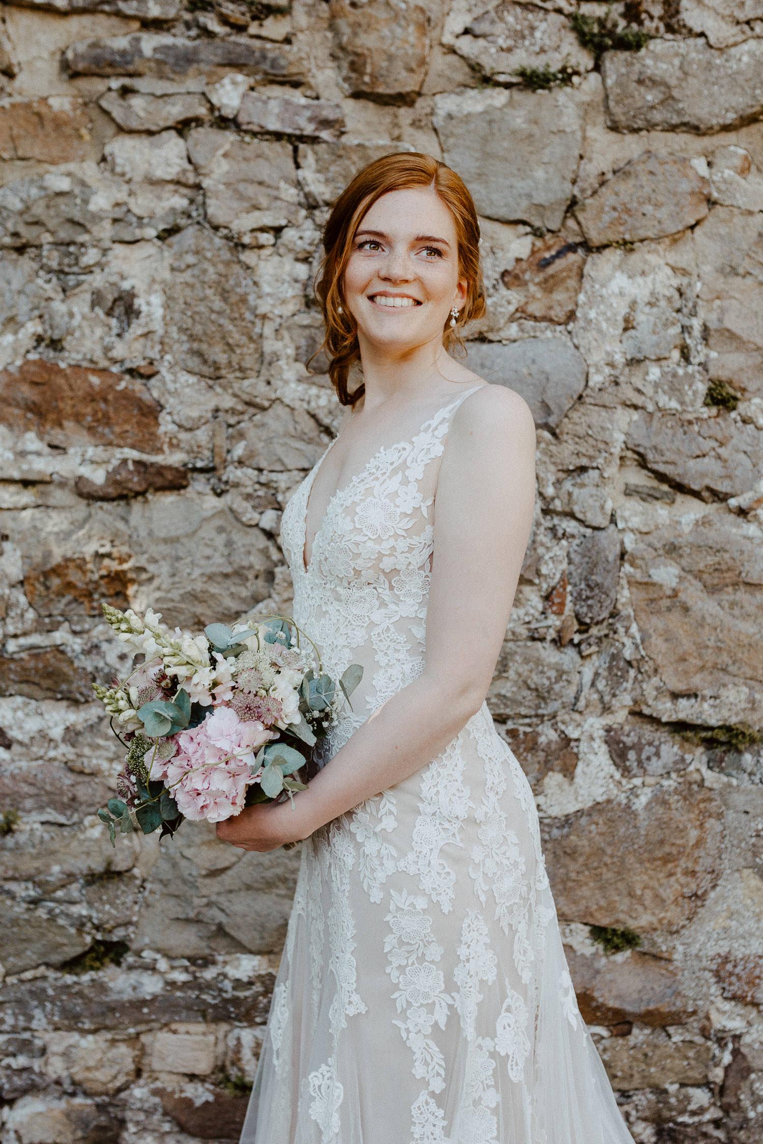 Braut Porträt auf Burg Sternberg