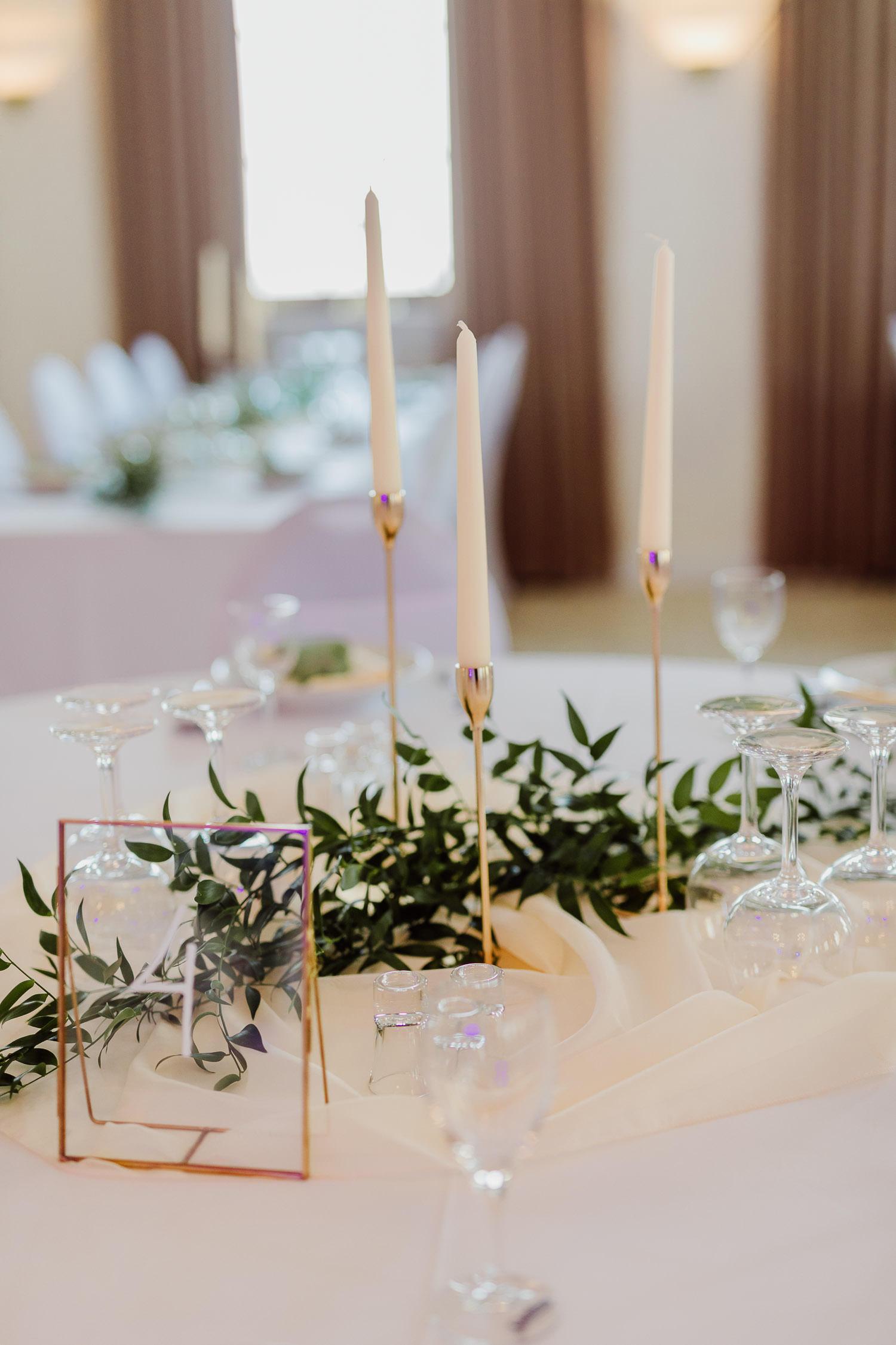 Tischdekoration bei Hochzeit im eventcenter bad oeynhausen