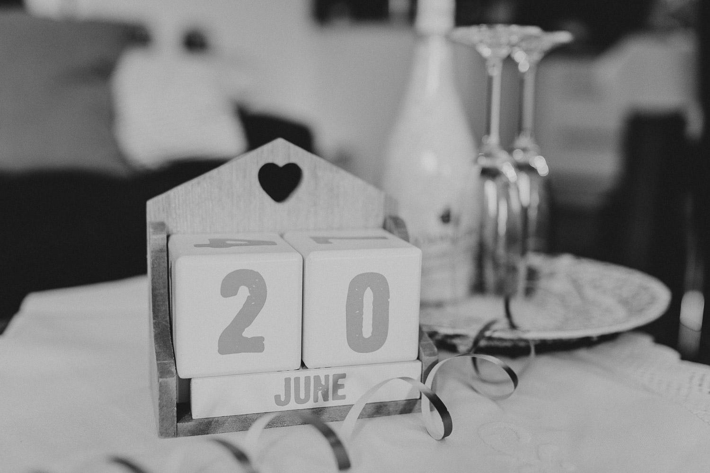 Datumswürfe Kalender für Hochzeit