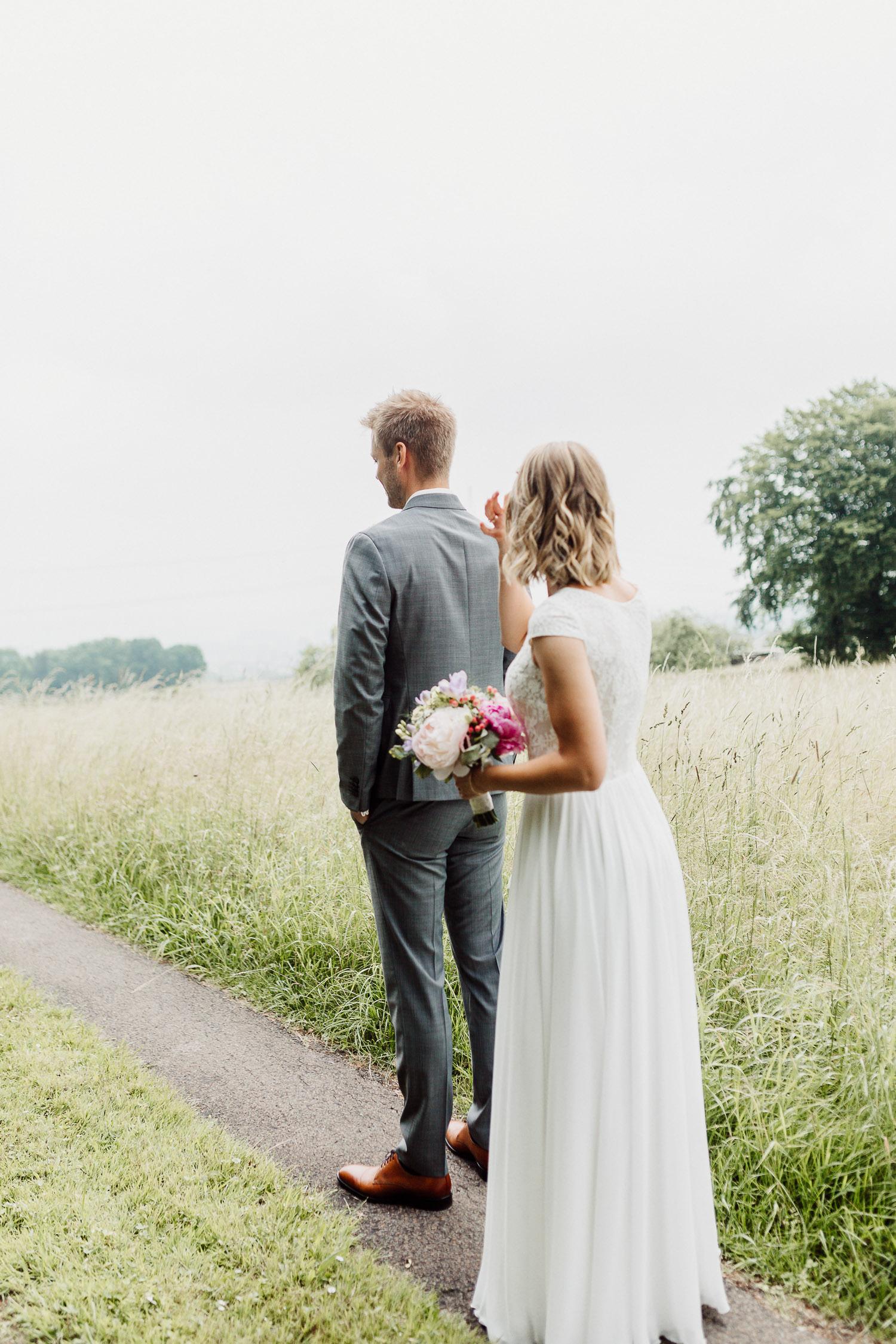 Braut und Bräutigam beim First Lokk