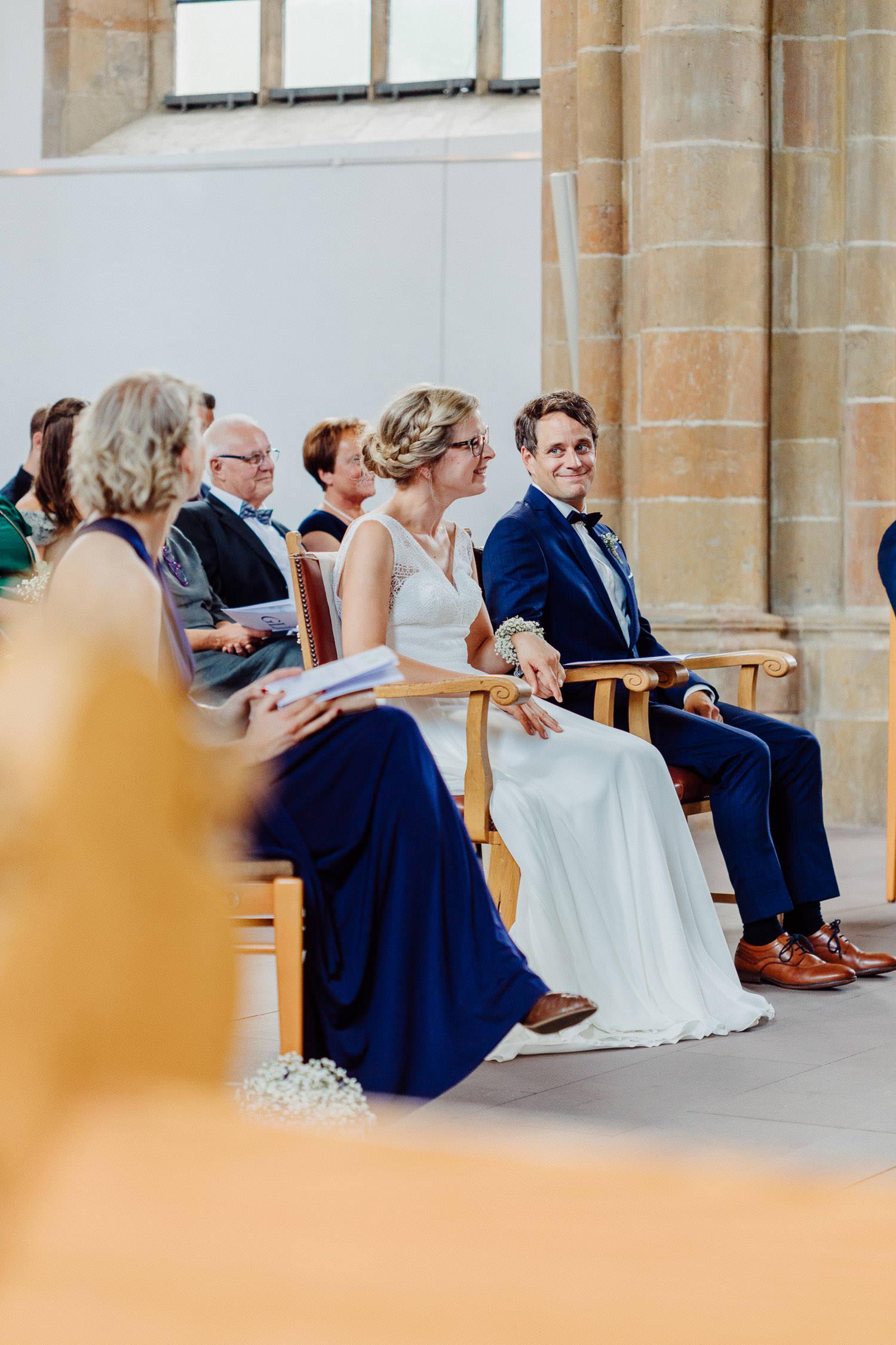 Brautpaar bei der Trauzeremonie