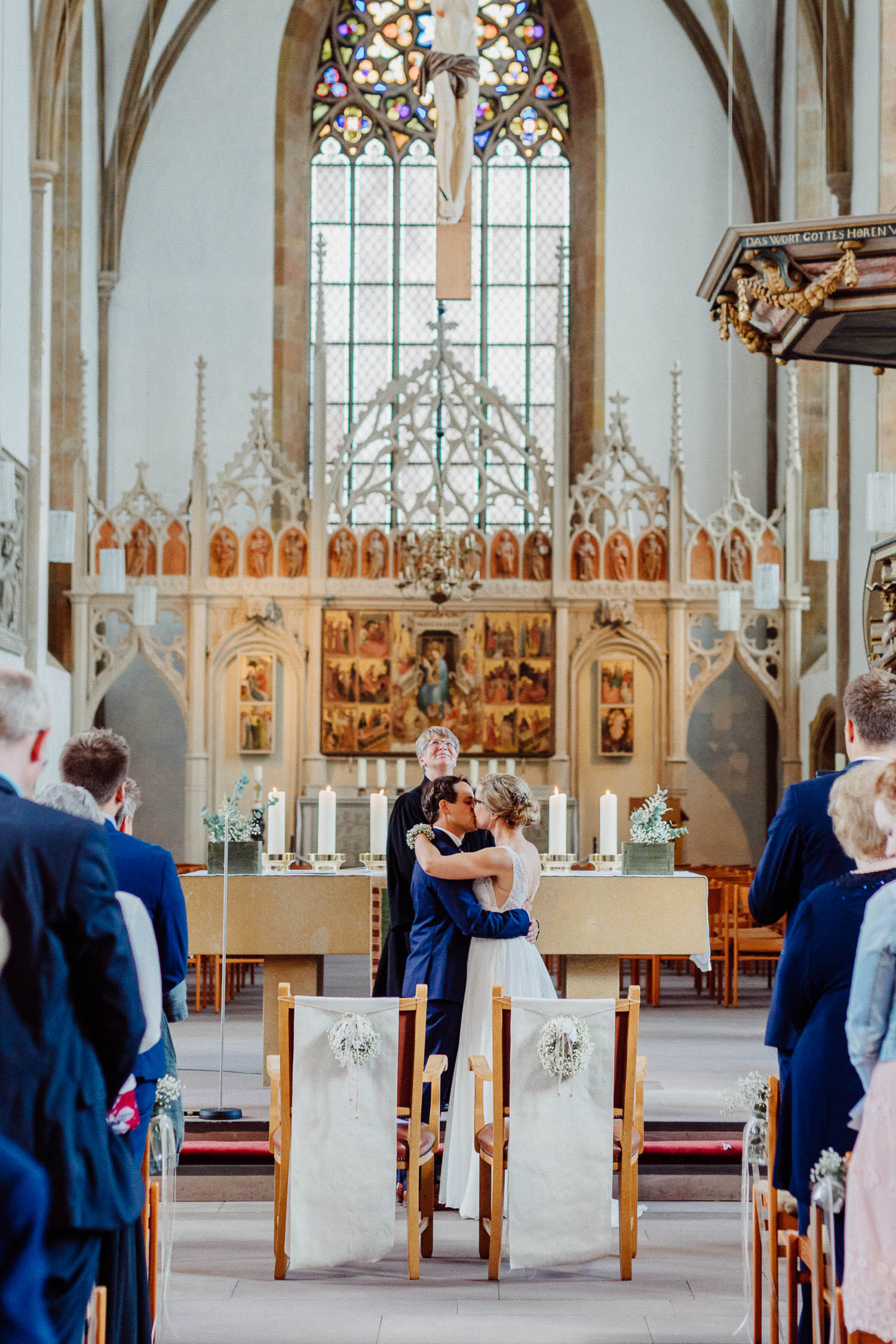 Hochzeitskuss in der Neustädter Marienkirche Bielefeld