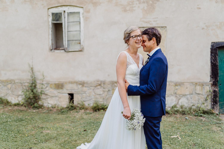Hochzeitsfoto auf dem Hof von Laer