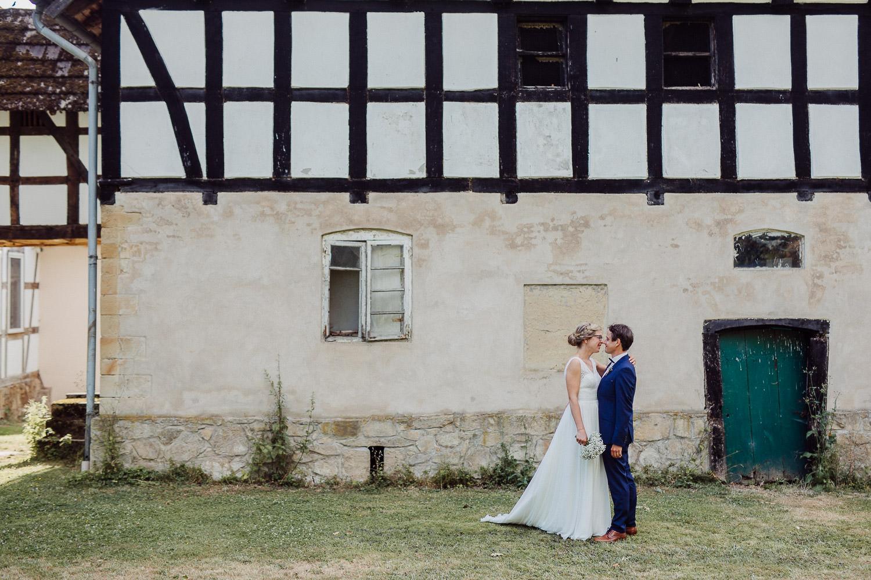Hochzeitsfoto auf dem Hof von Laer Herford