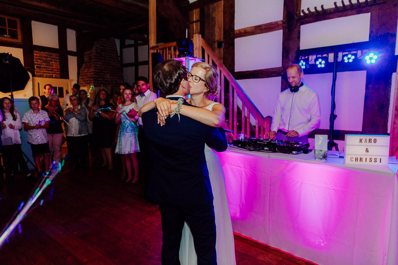 Hochzeitsfoto Hochzeitstanz Hof von Laer