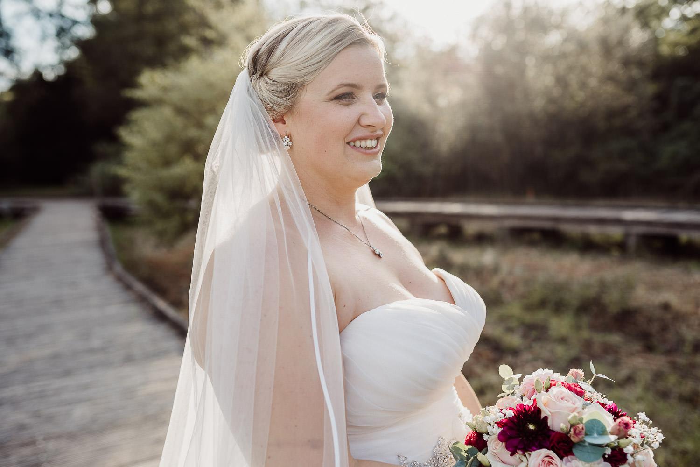 Hochzeitsfoto Portrait Braut im Gartenschaupark