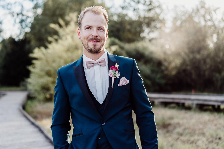 Hochzeitsfoto Portrait Bräutigam