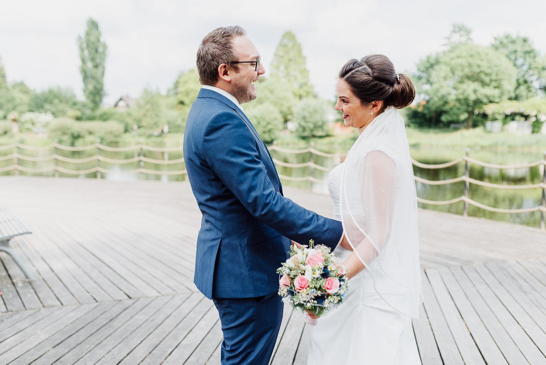 First Look Emssee Rheda Hochzeitsfoto