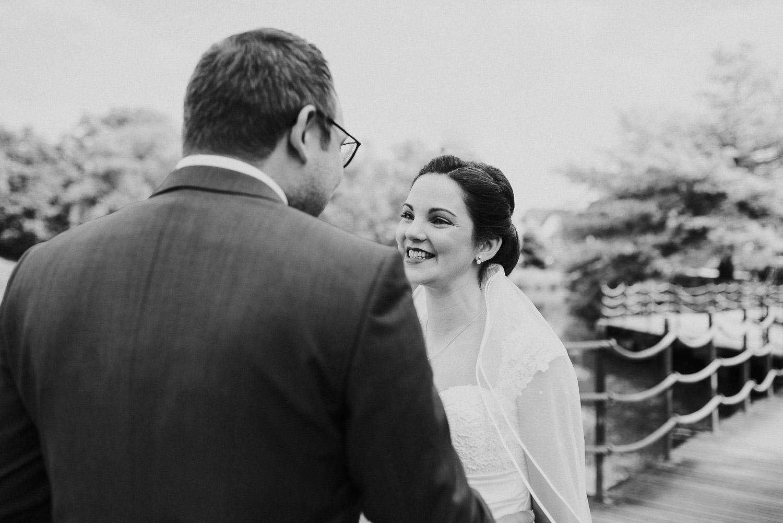 Braut sieht Bräutigam zum ersten mal