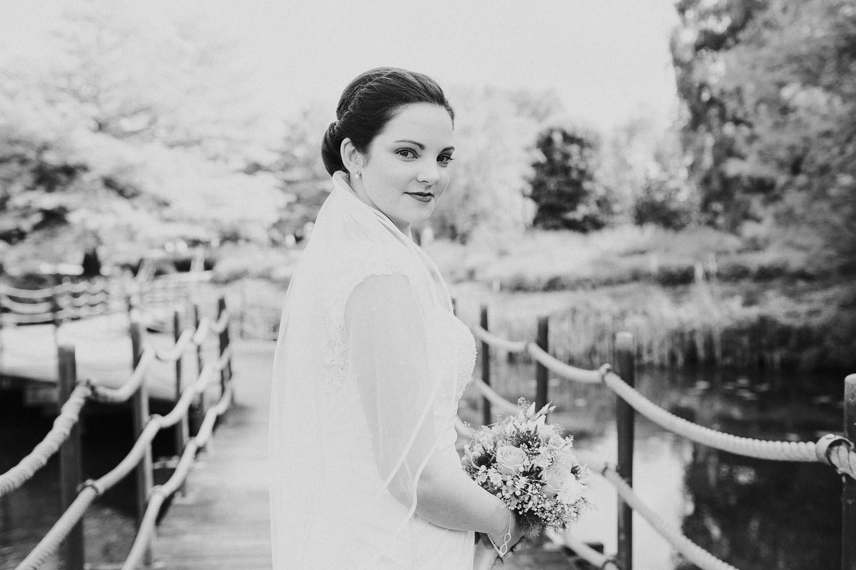 Braut Porträt Foto am Emssee Rheda