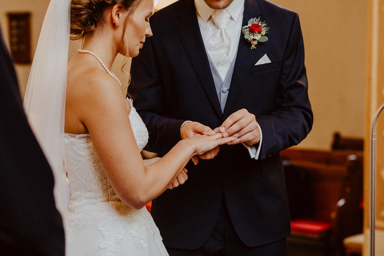 Ringtausch des Brautpaares