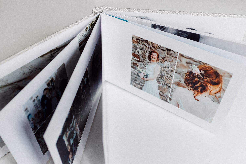 Fotobuch Beispiel mit Fotos von Brautfrisur