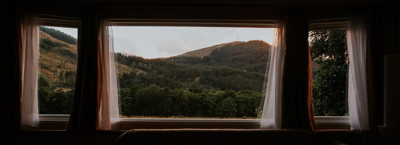 Ausblick aus Caravan Glen Coe Campingplatz