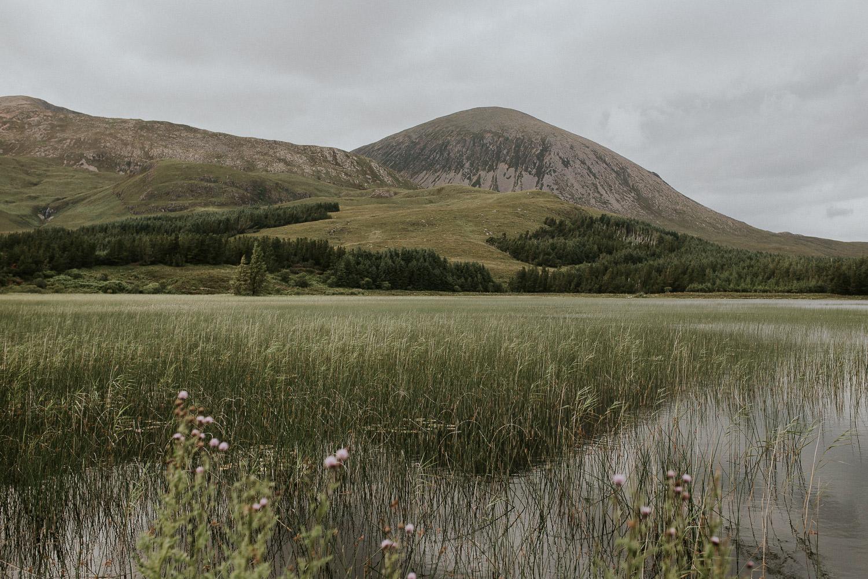 See und Berge auf Isle of Skye Schottland